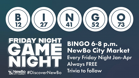 <p>BINGO is BACK at the Market! Beginning Friday, January 11, 2019, and continuing every Friday night after, we&#8217;ll be hosting FREE Bingo at the Market from 6-8 pm.</p>