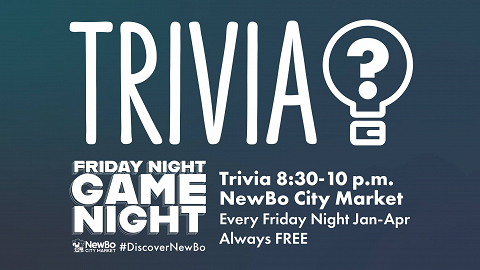 <p>Trivia is back at the Market! Beginning Friday, January 11, 2019, and continuing every Friday night after, we&#8217;ll be hosting FREE Trivia at the Market from 8:30-10 pm.</p>