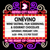 <p>Join us for the return of NewBo City Market's CineVino, a one-of-a-kind event celebrating Iowa wine. Wine lovers will enjoy a screening of Netflix's Uncorked (2020) and sip on numerous samplings from several local wineries.</p>