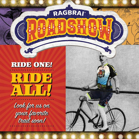<p>Ride one, ride all! Saturdays this fall the RAGBRAI mini merchandise trailer is popping up along your favorite Iowa trails! Join us for giveaways, rides, fun, and in most cases beer and food! We can't wait to see you.</p>